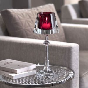 baccarat candle holder red