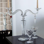 baccarat candel holder crystal