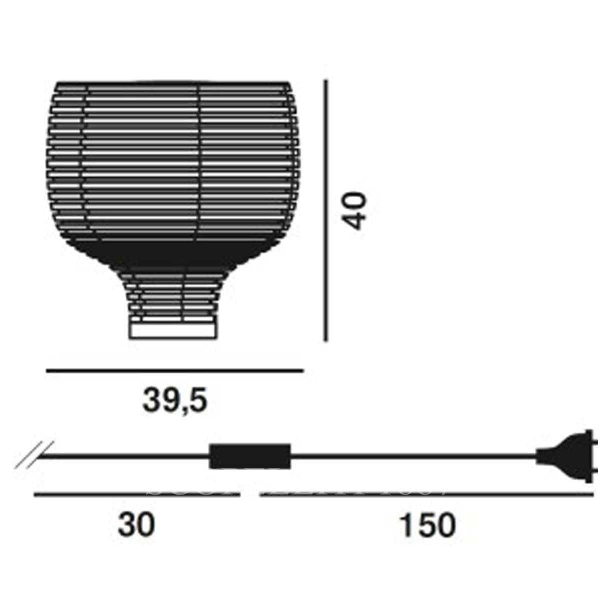 foscarini italian lighting table lamp behive measures