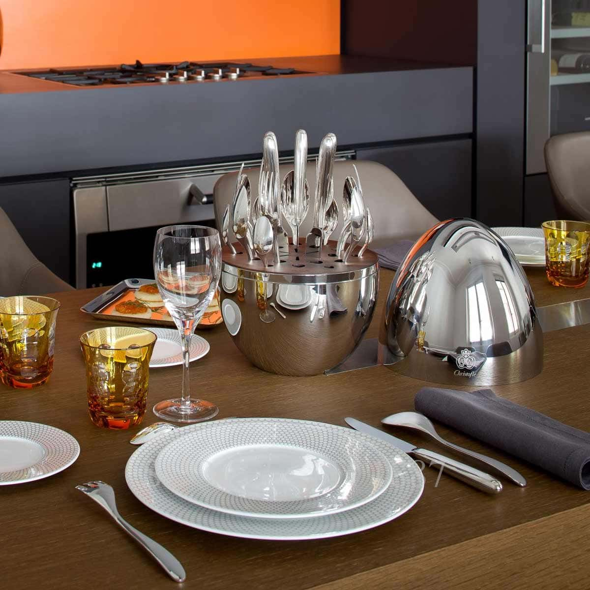 christofle mood 24 silver plated flatware online