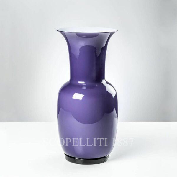 venini violet vase opalino