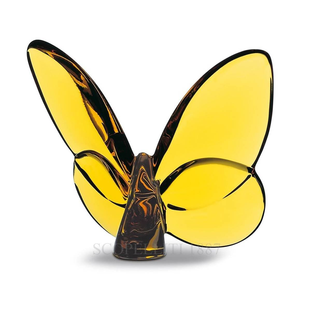 lucky butterfly yellow crystal