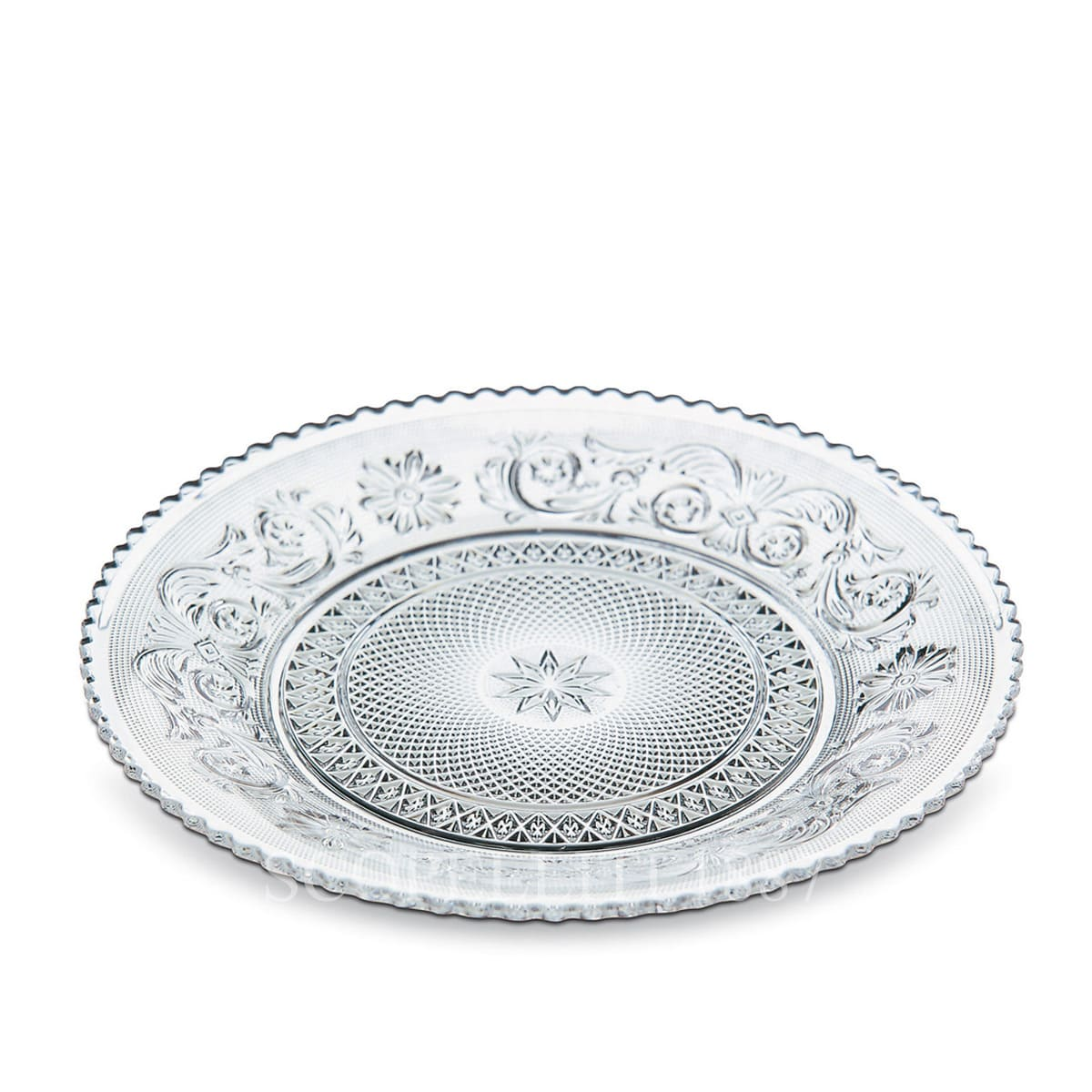 baccarat crystal french design arabesque dessert plate