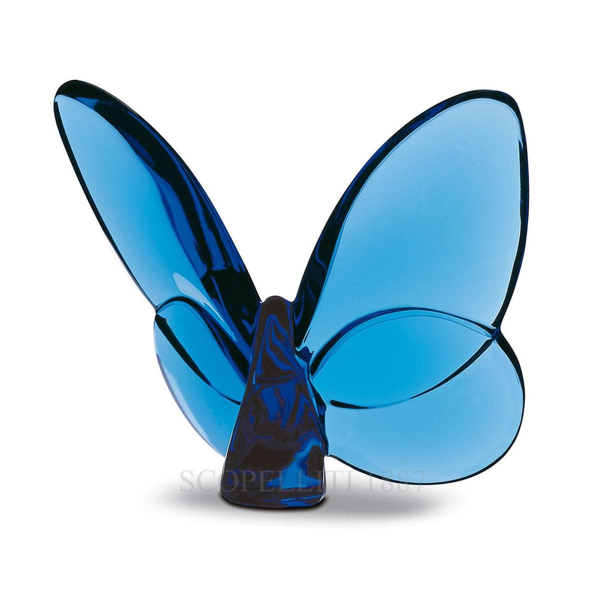 baccarat crystal french design blue porte bonheur butterfly