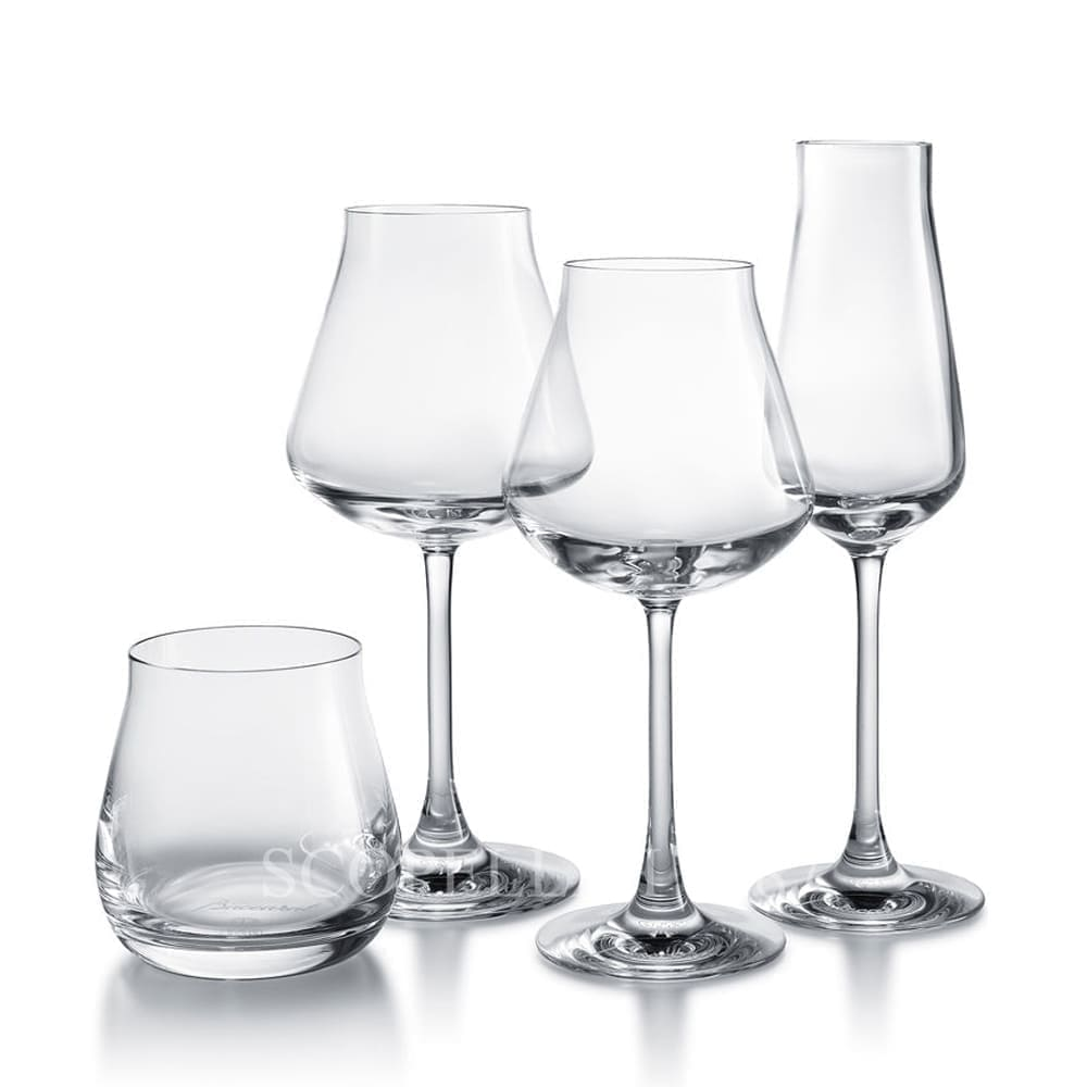 baccarat crystal french design chateau degustation set