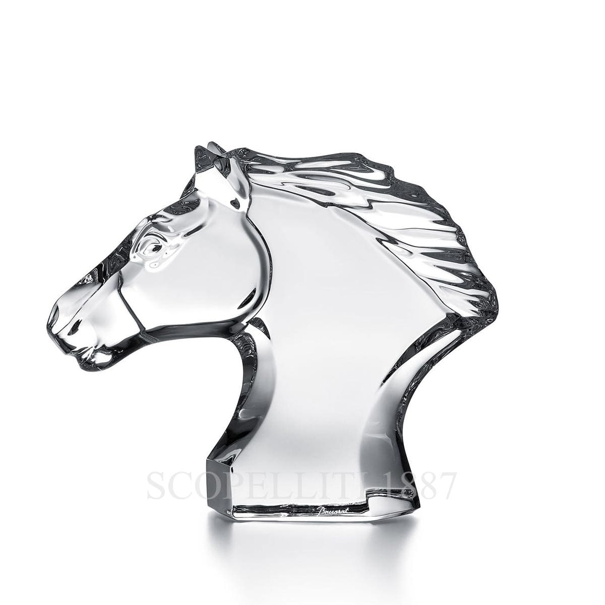 baccarat crystal french design horse head