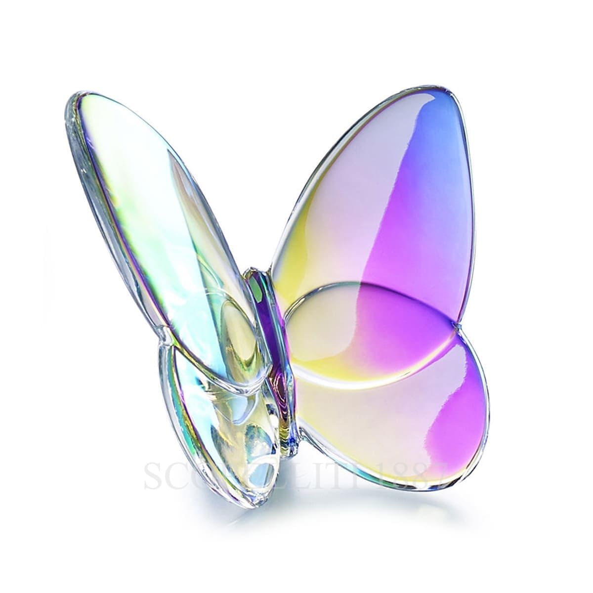 baccarat french design iridescent porte bonheur butterfly