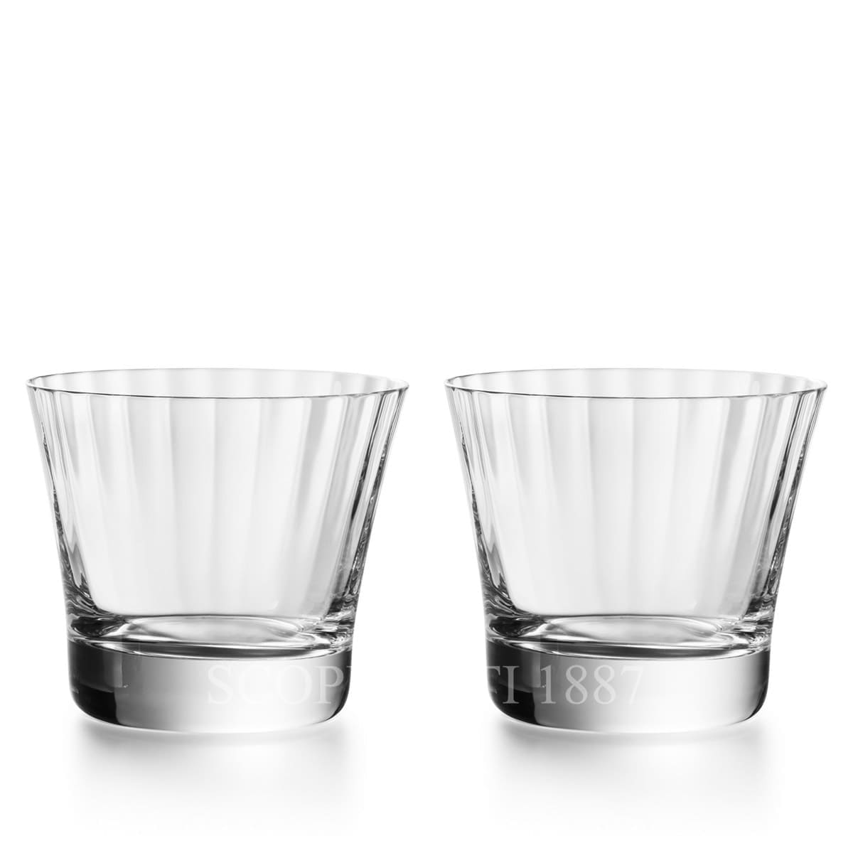 baccarat french design mille nuits crystal tumblers