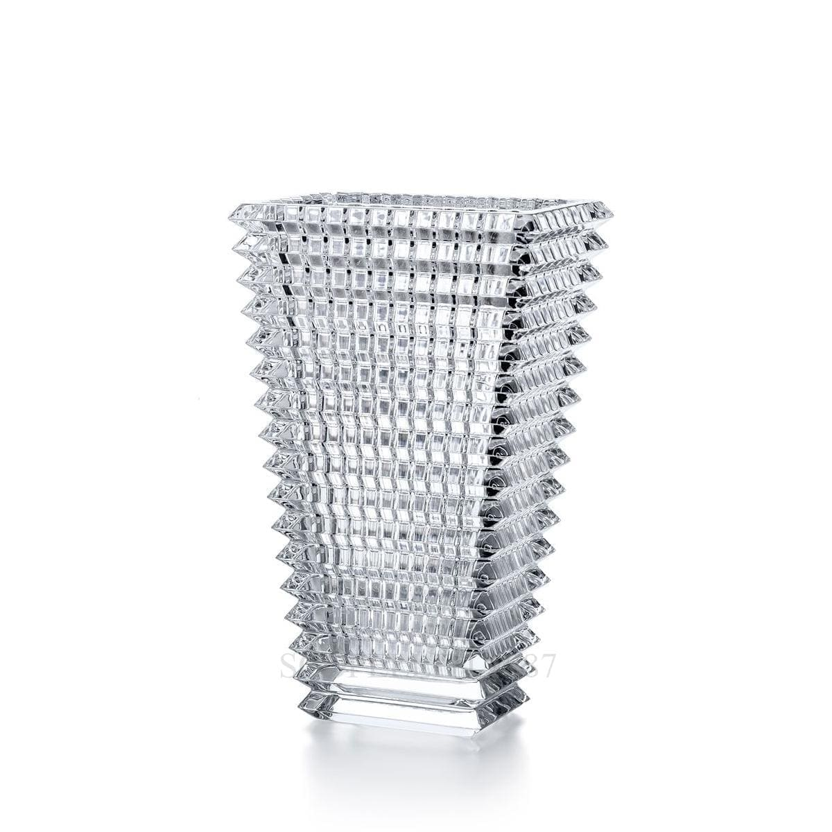 baccarat crystal french design rectangular eye vase