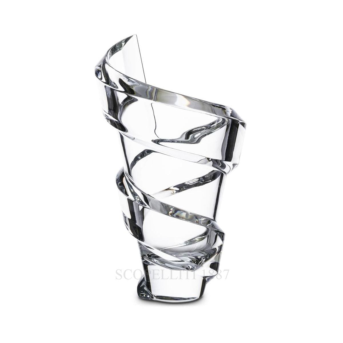 baccarat crystal french design spiral vase