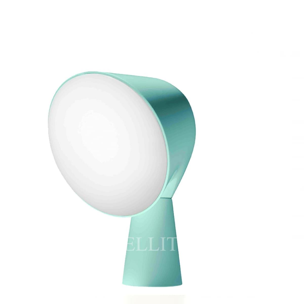 foscarini italian designer binic table lamp aquamarine