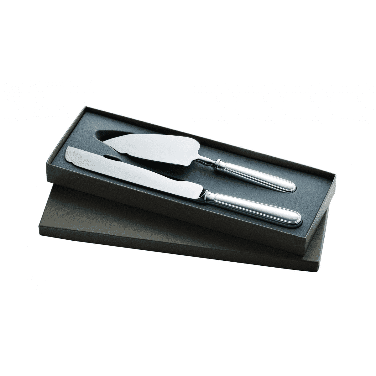 christofle silver plated albi gift box cake server and knife