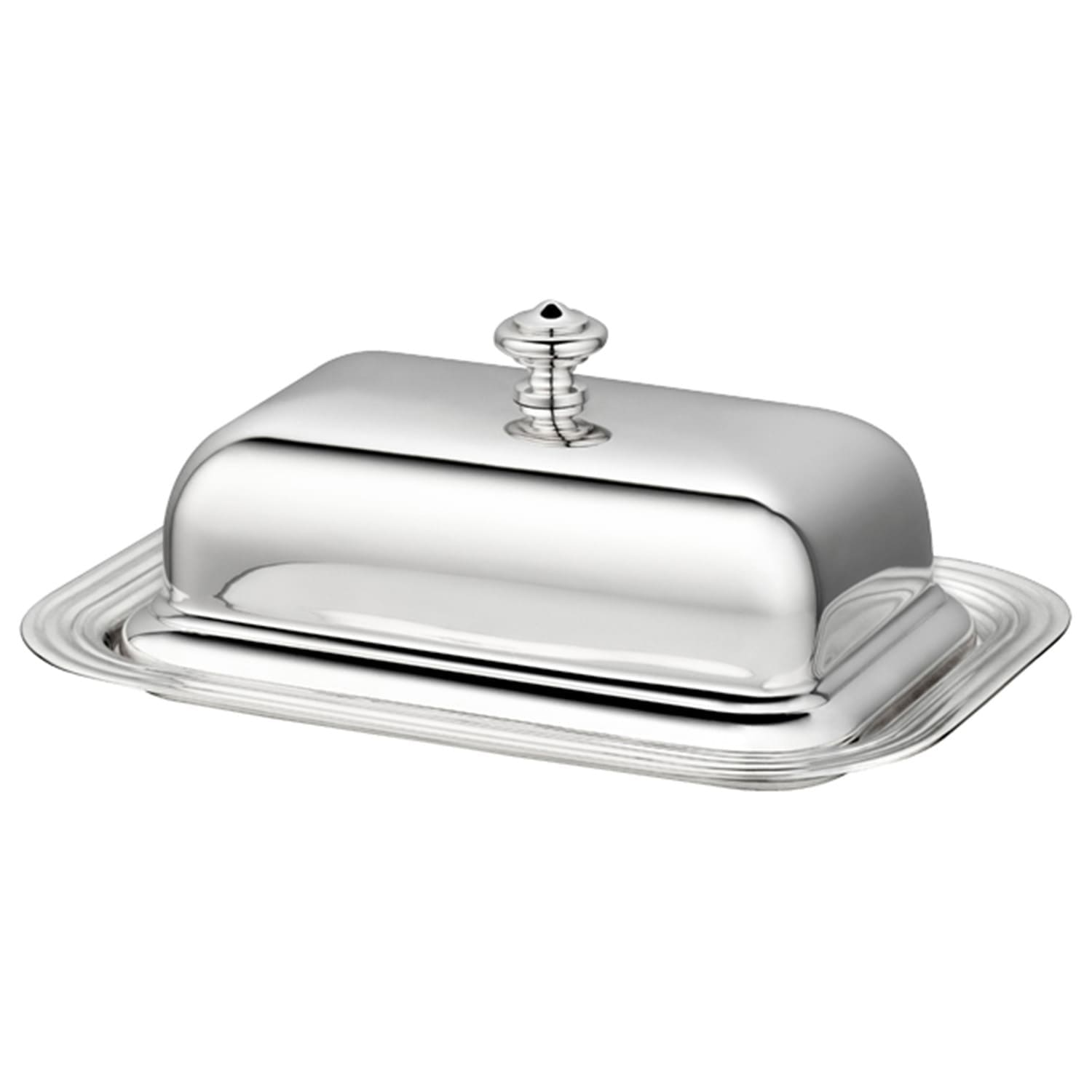 christofle silver plated albi butter dish