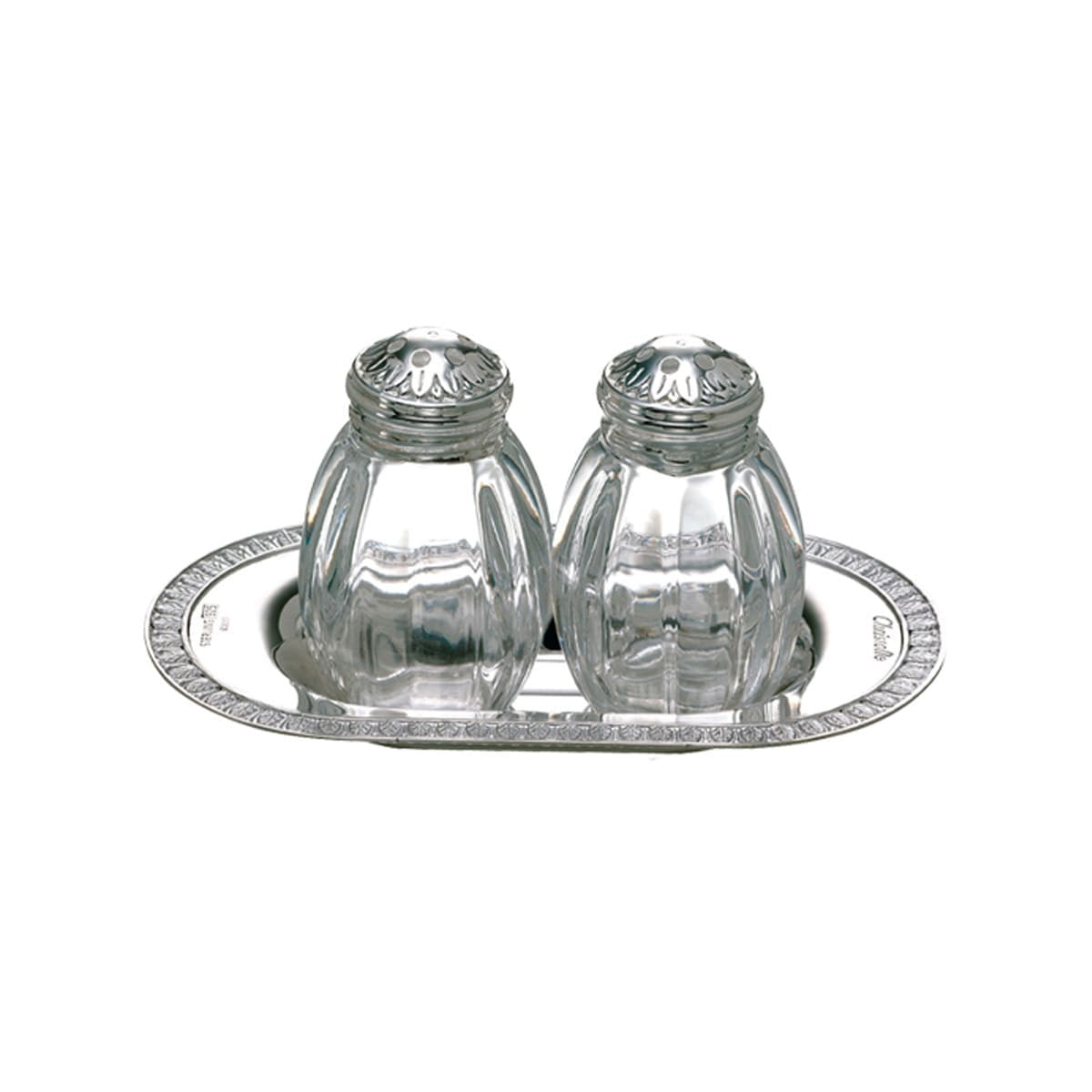 Christofle Malmaison Salt and Pepper Shakers and serving dish