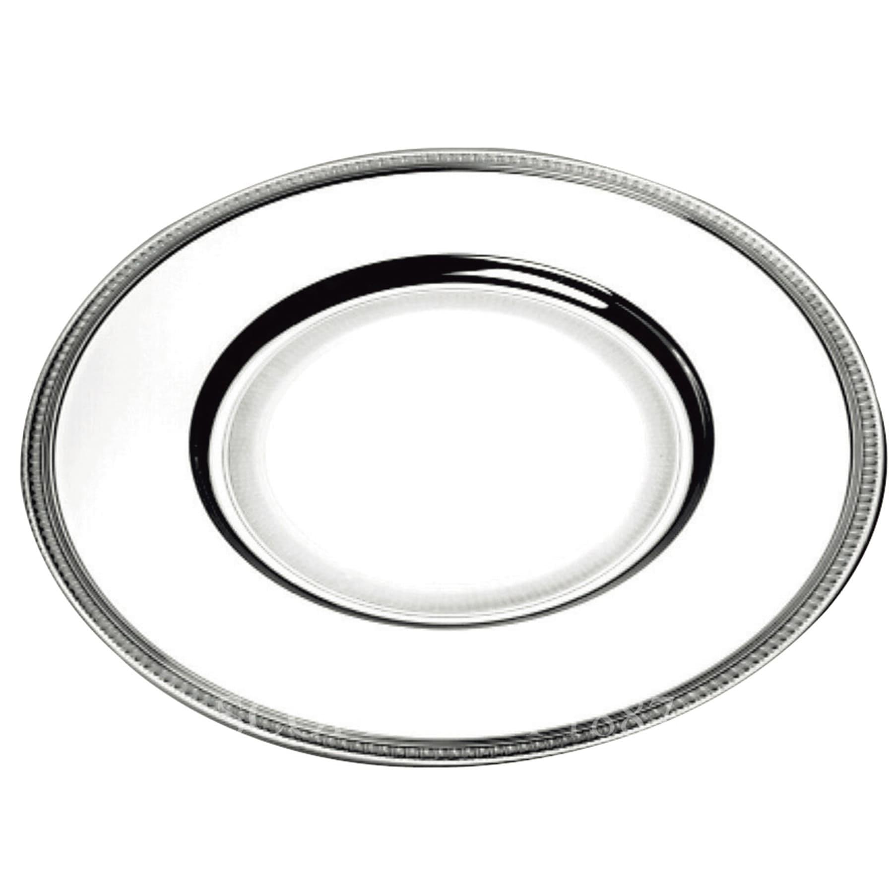 christofle silver plated malmaison charger presentation plate