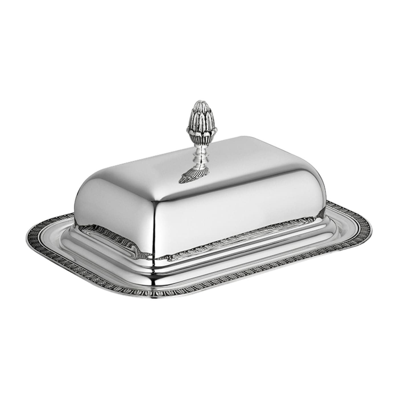 christofle silver plated malmaison butter dish