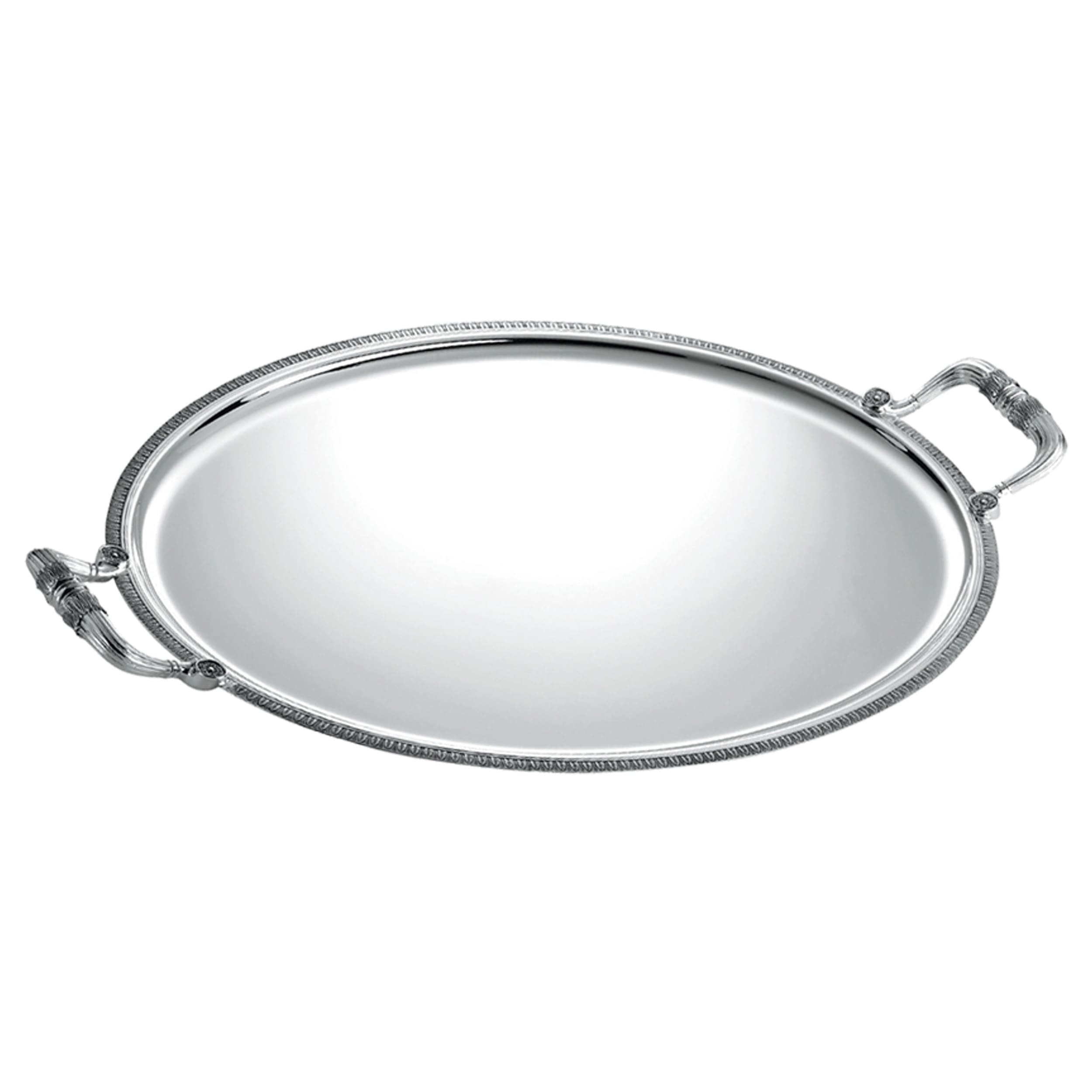 christofle silver plated malmaison oval tray