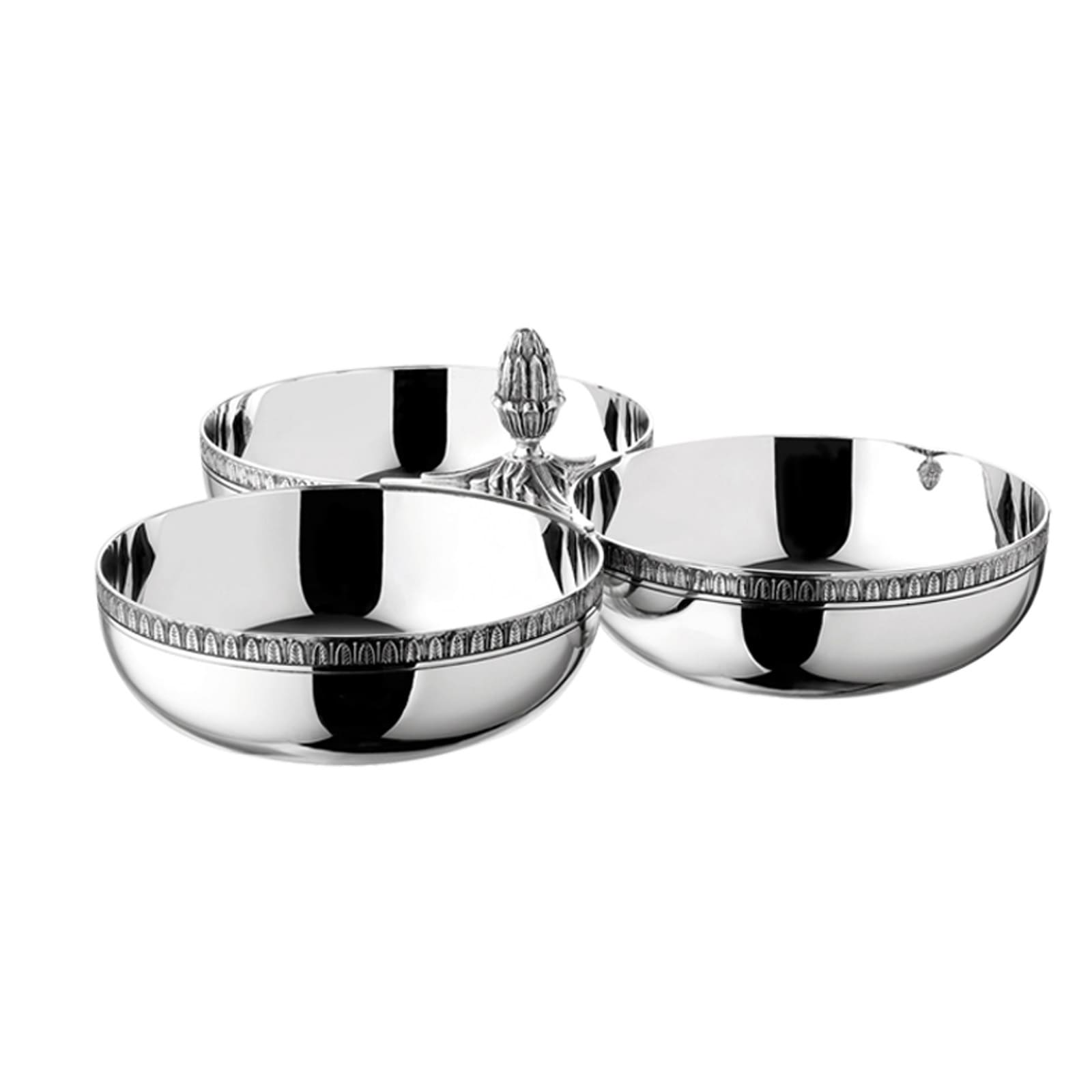 christofle silver plated malmaison centerpiece