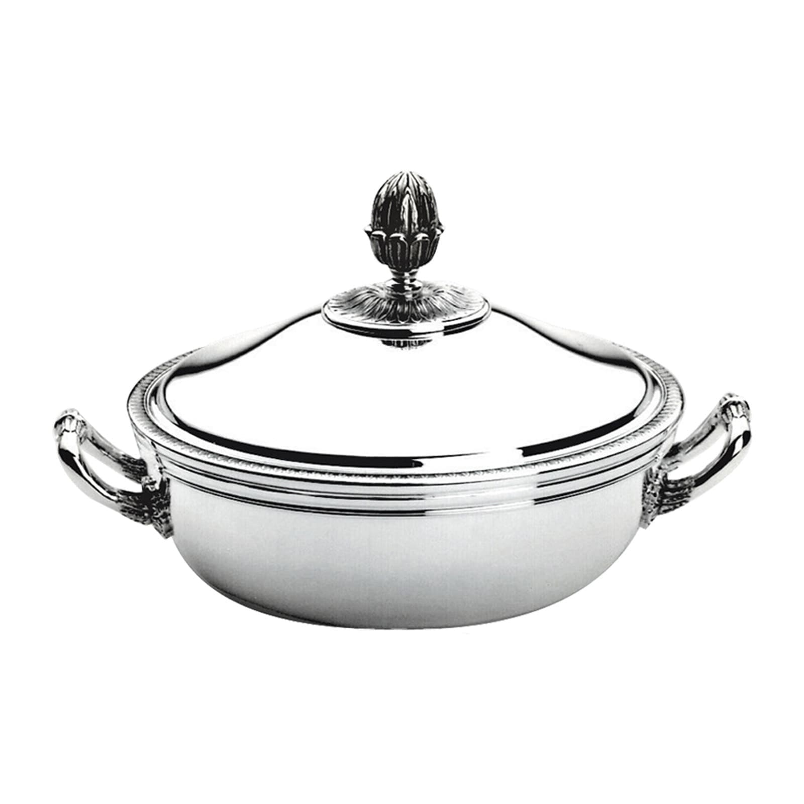 Christofle Malmaison Silver Plated Vegetable Dish with Lid