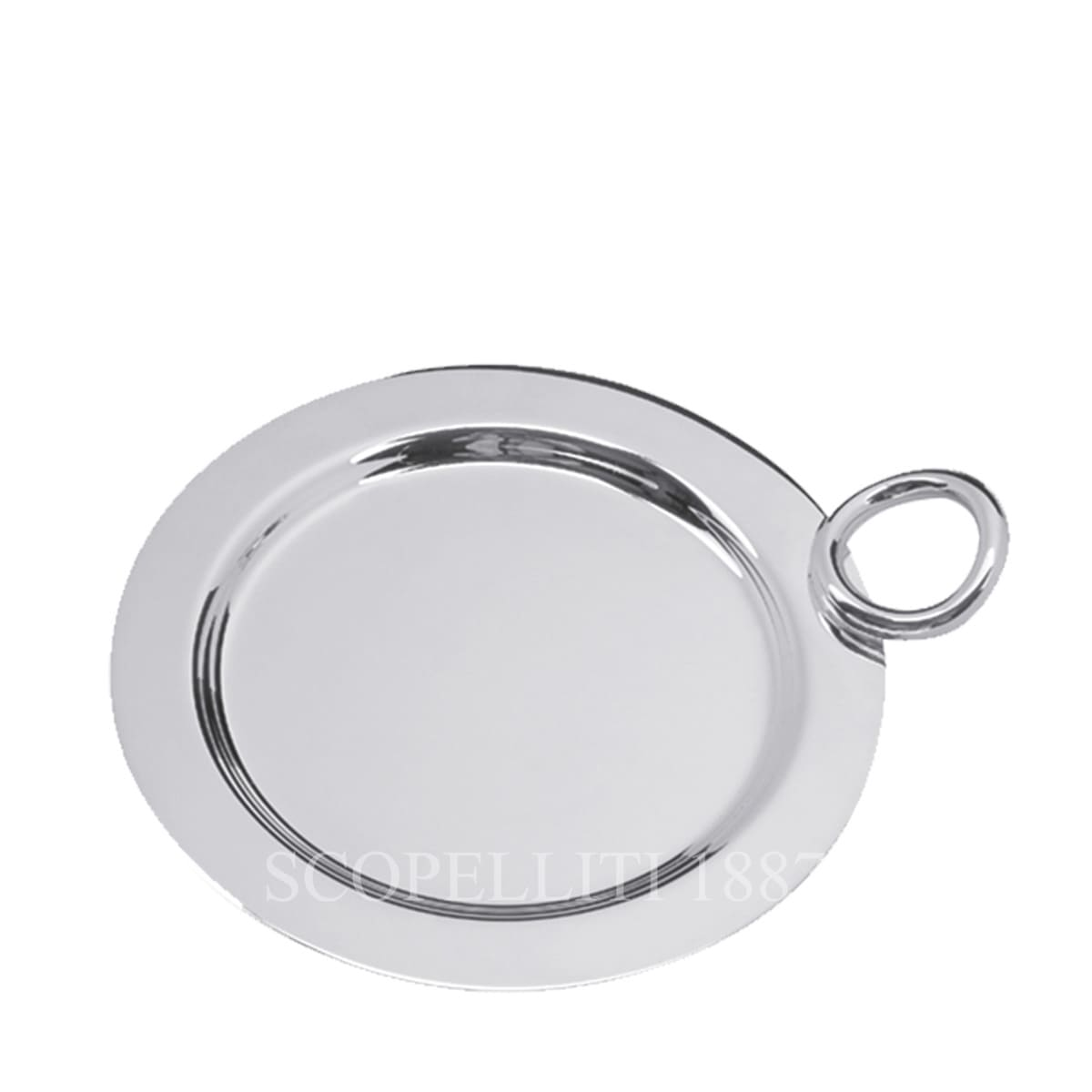 christofle silver plated vertigo bottle coaster