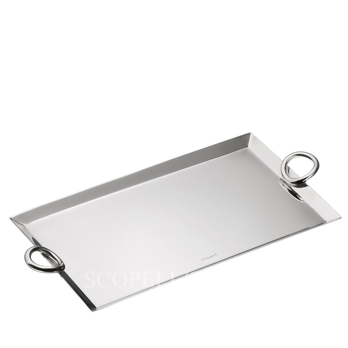 Christofle Vertigo Silver Plated Mail Tray 25 x 14 cm