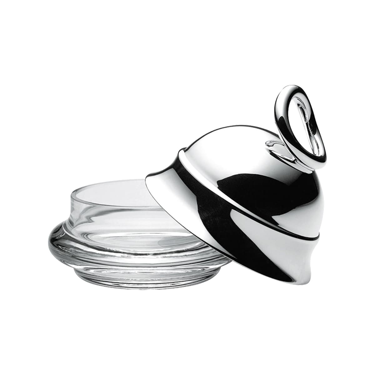 christofle silver plated vertigo butter dish