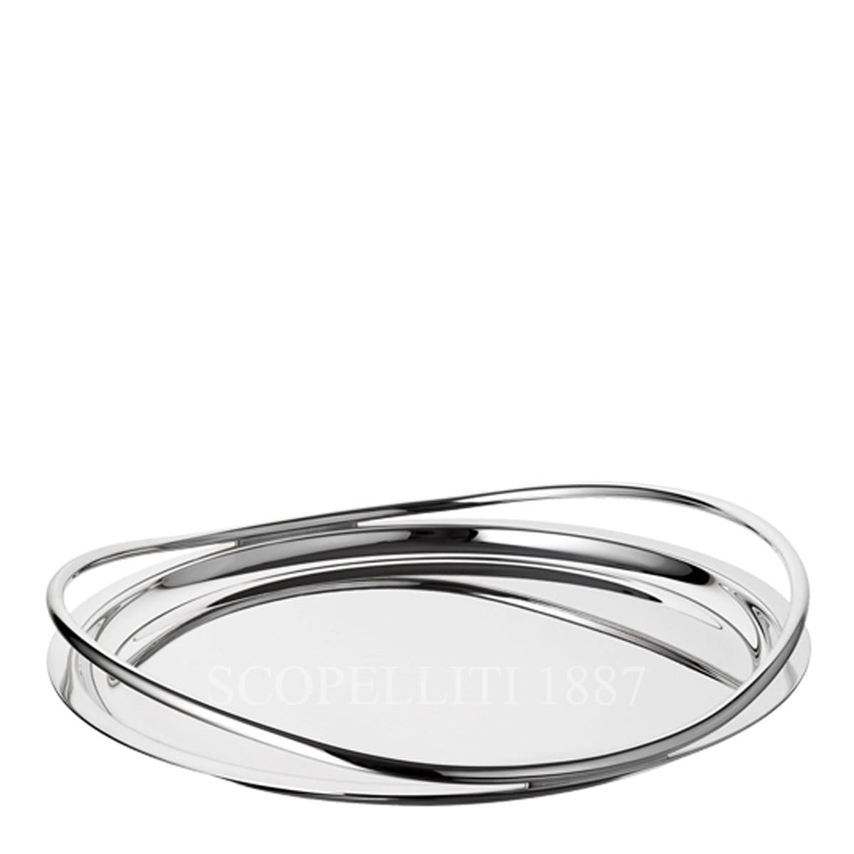 Christofle Vertigo Silver Plated Round Serving Tray – Large
