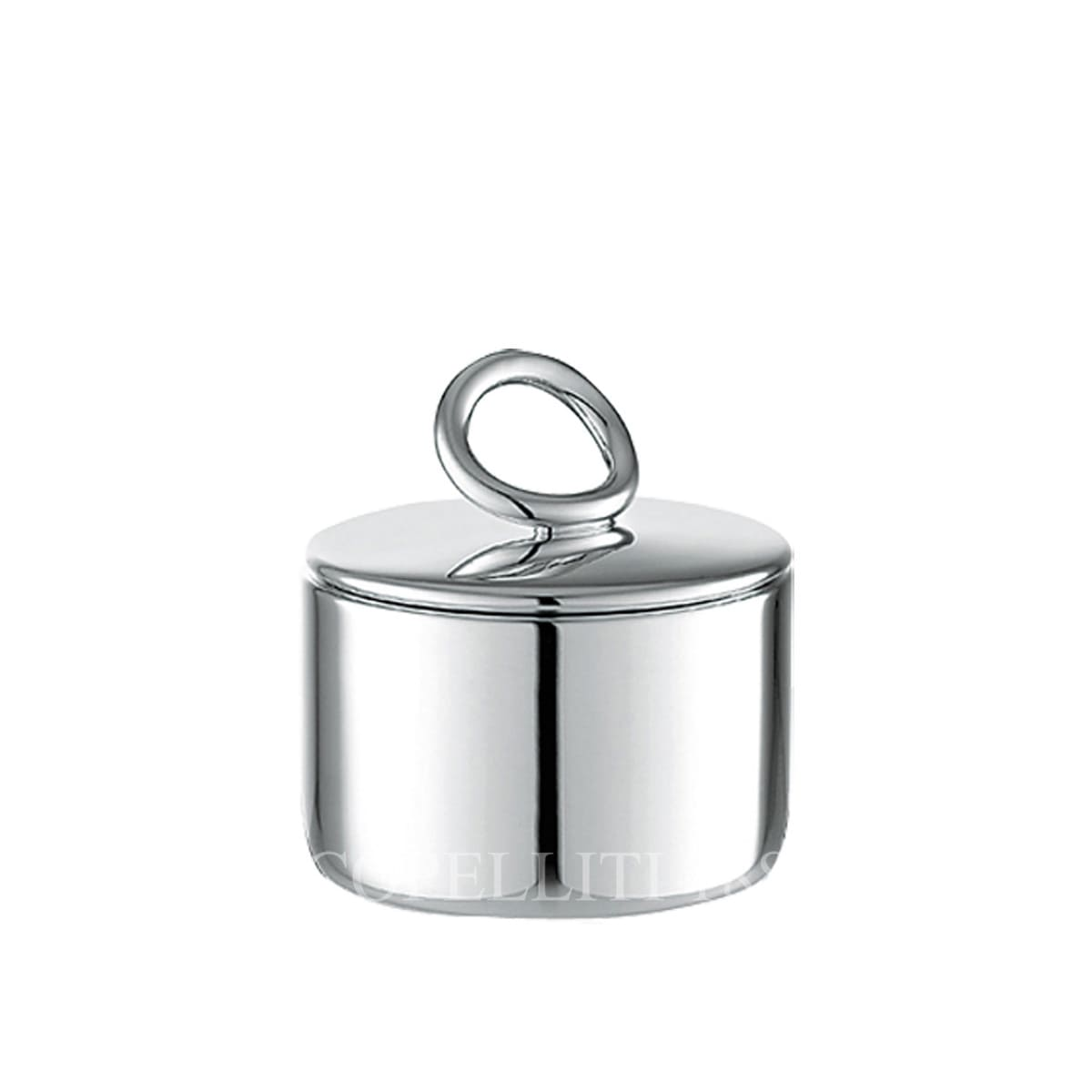 christofle silver plated vertigo sugar box