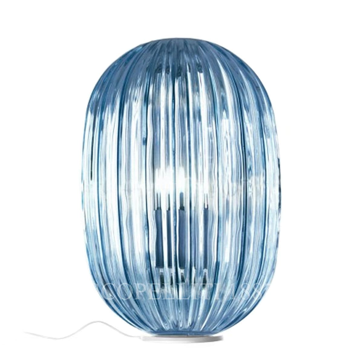 foscarini italian lighting table lamp plass media light blue