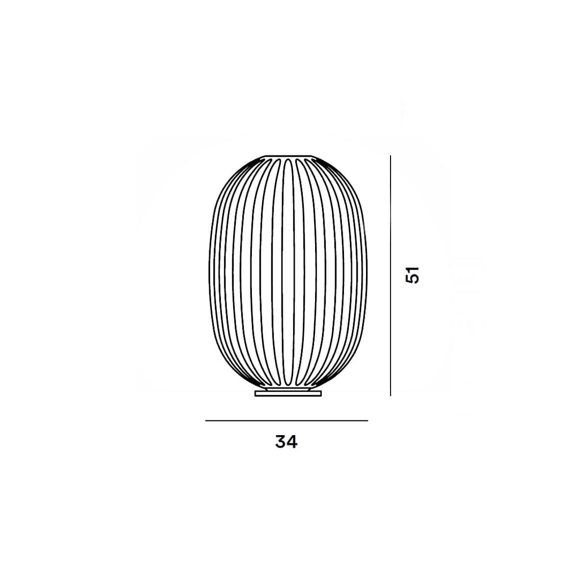 foscarini italian lighting table lamp plass measures