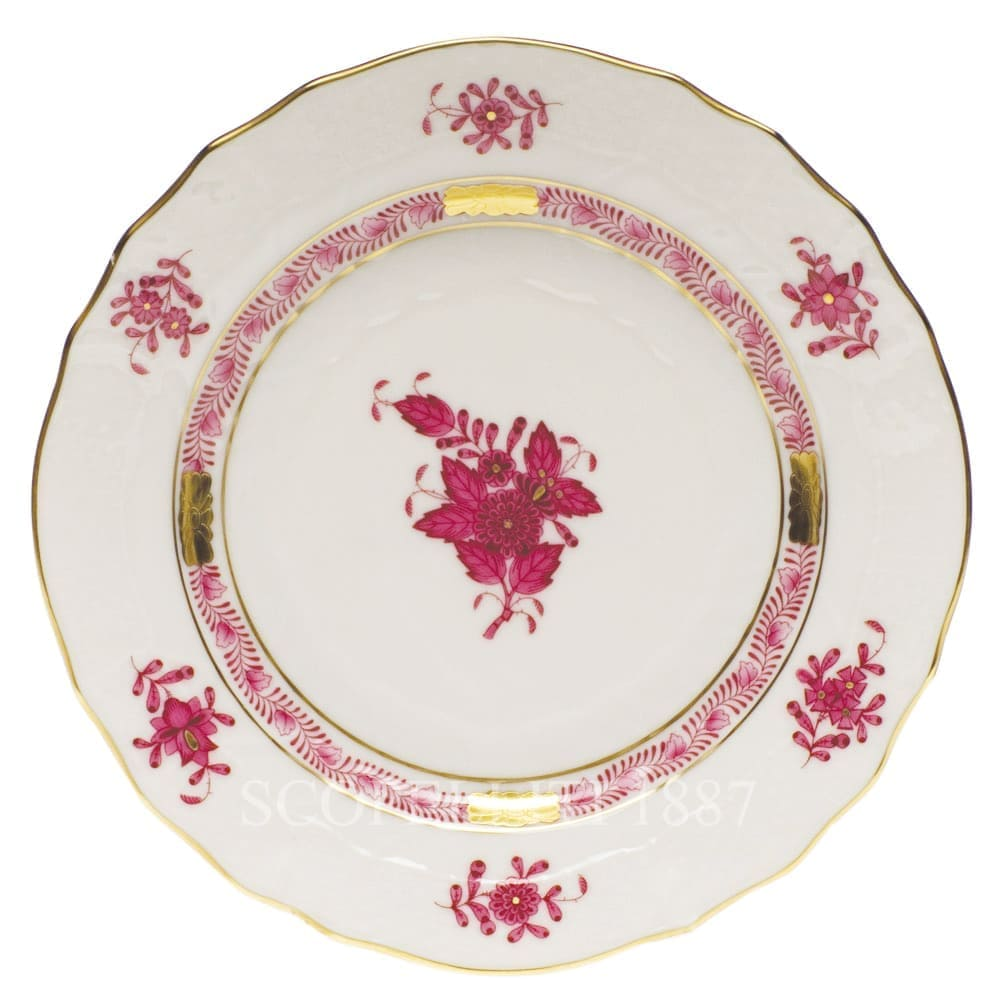 herend handpainted porcelain apponyi bread butter plate pink