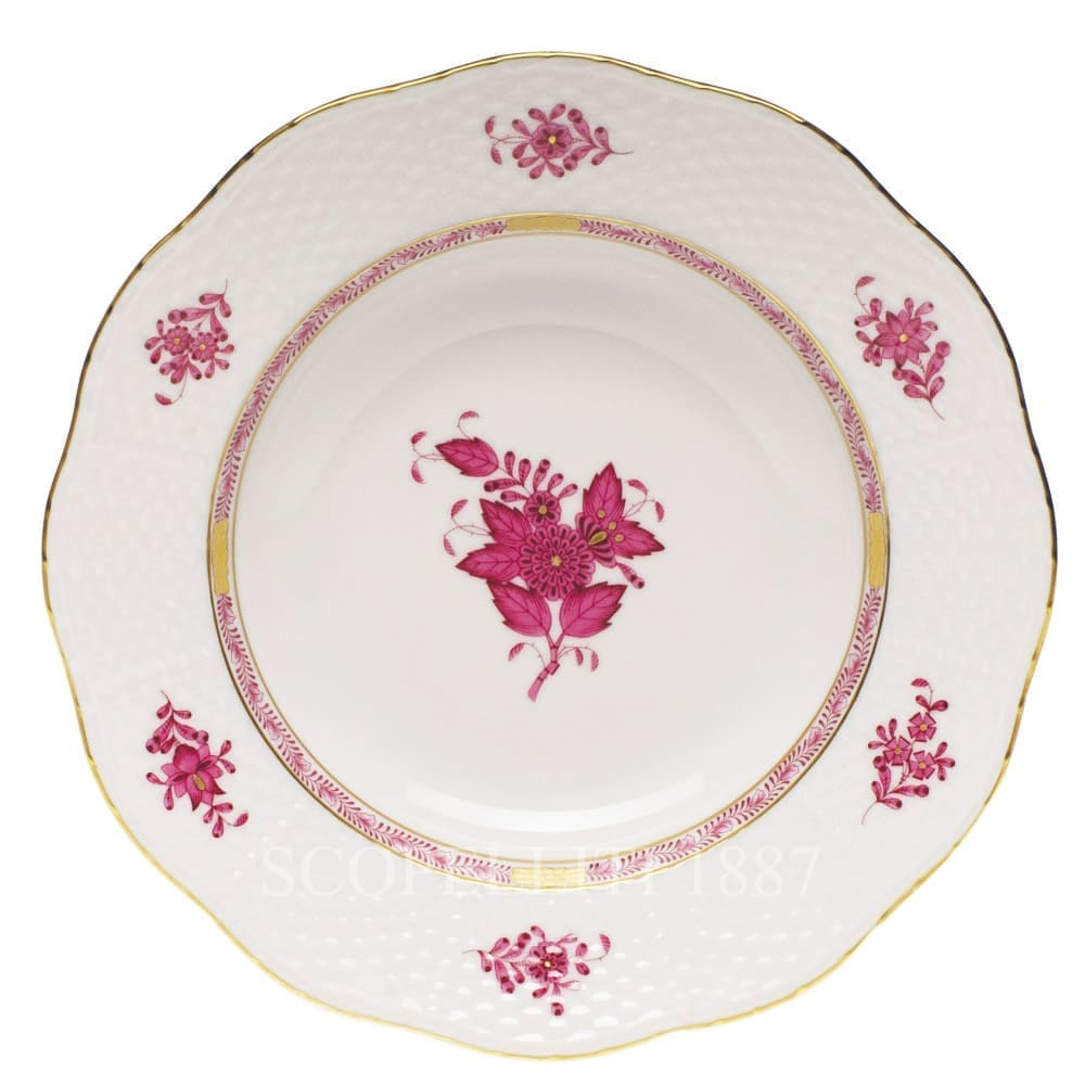 Herend Apponyi Dinner Set for 12 Persons 41 pcs AP Pink Osier