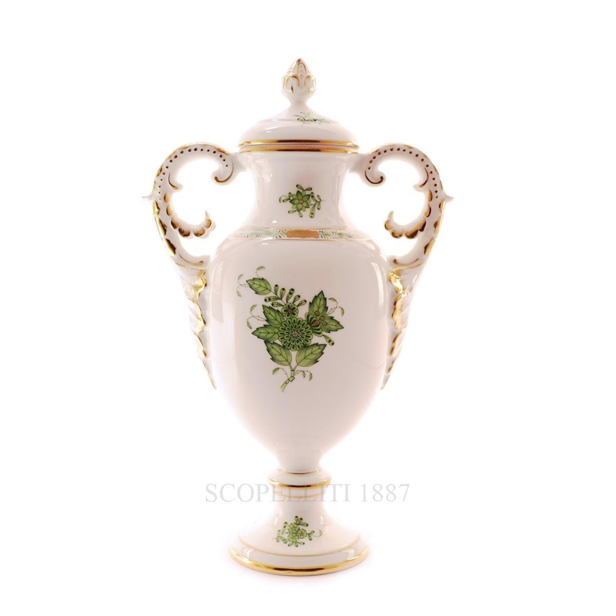 herend porcelain apponyi fancy vase with lid