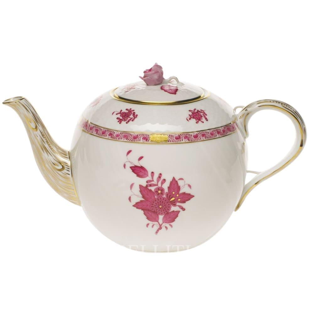 herend porcelain apponyi teapot pink