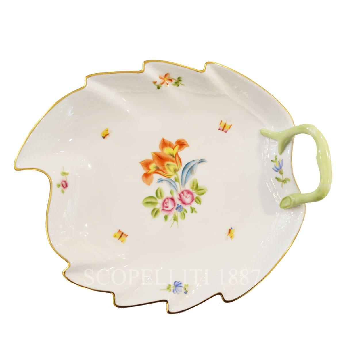Herend Bouquet de Tulipe Leaf Dish 200-0-00 LTB