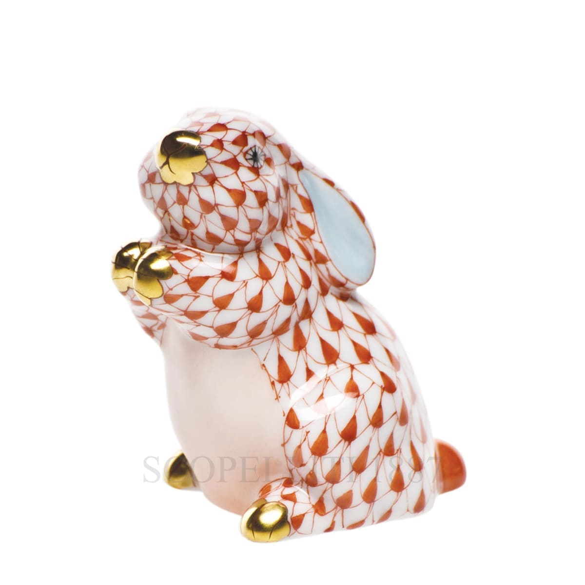 herend porcelain bunny figurine orange