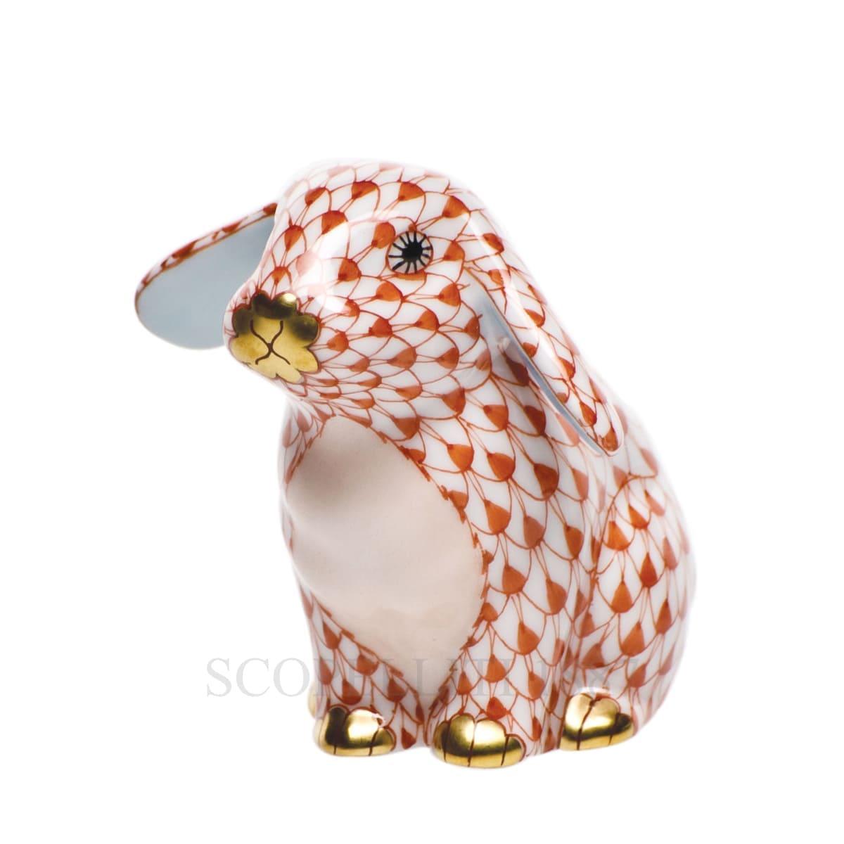 herend porcelain bunny figurine orange