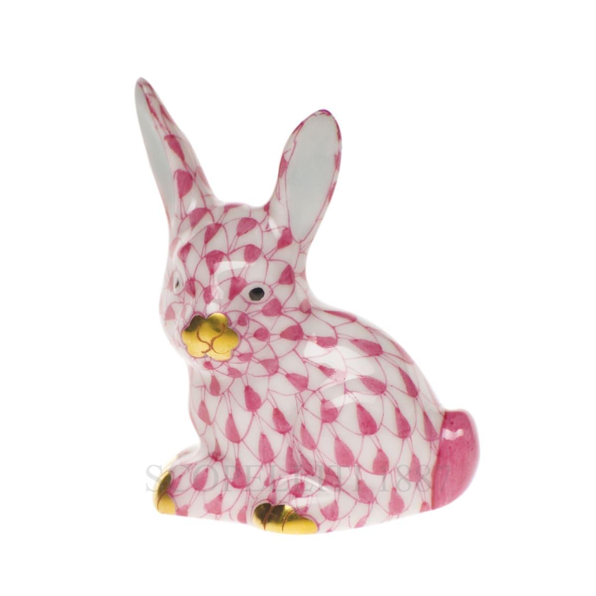herend porcelain bunny figurine pink