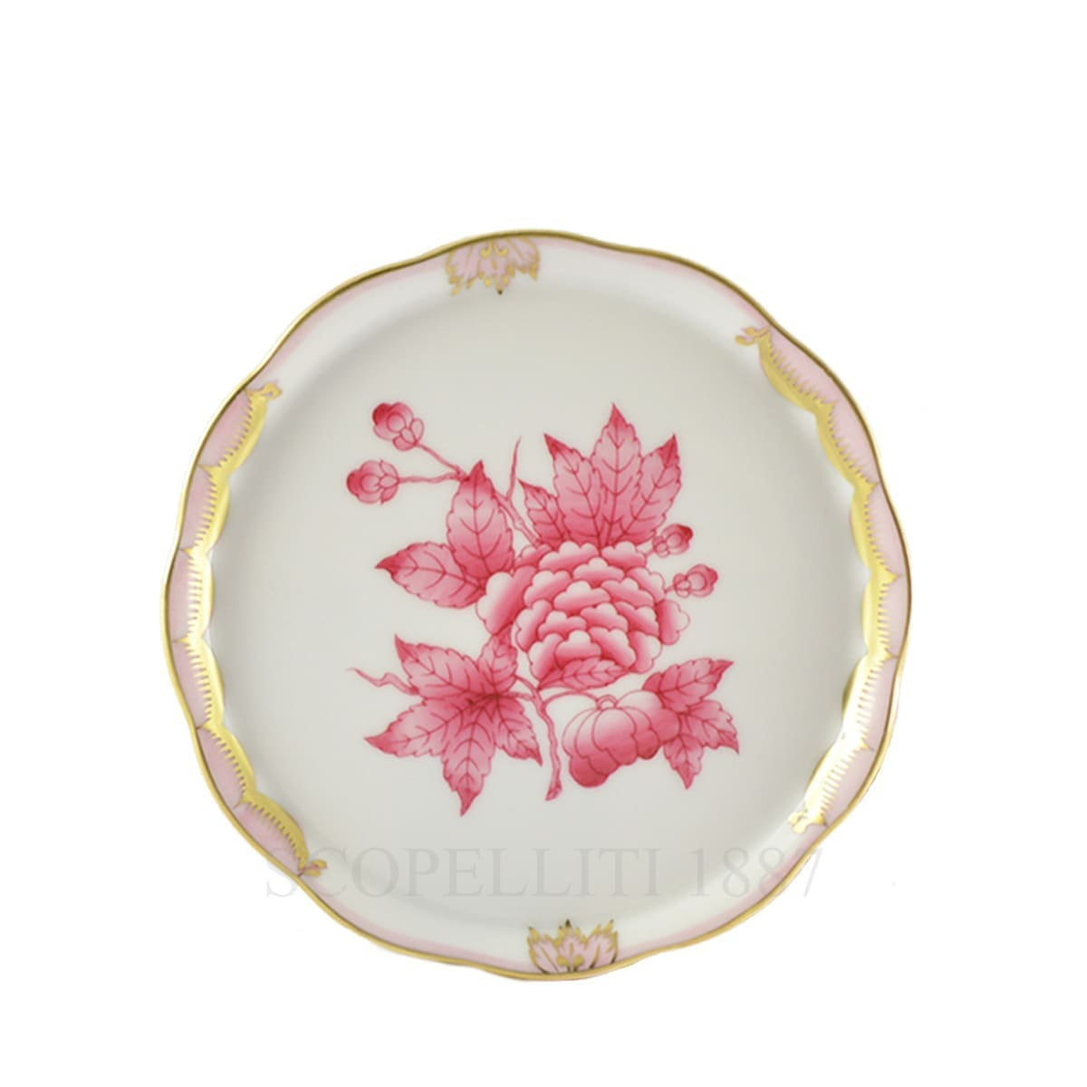herend handpainted porcelain coaster queen victoria