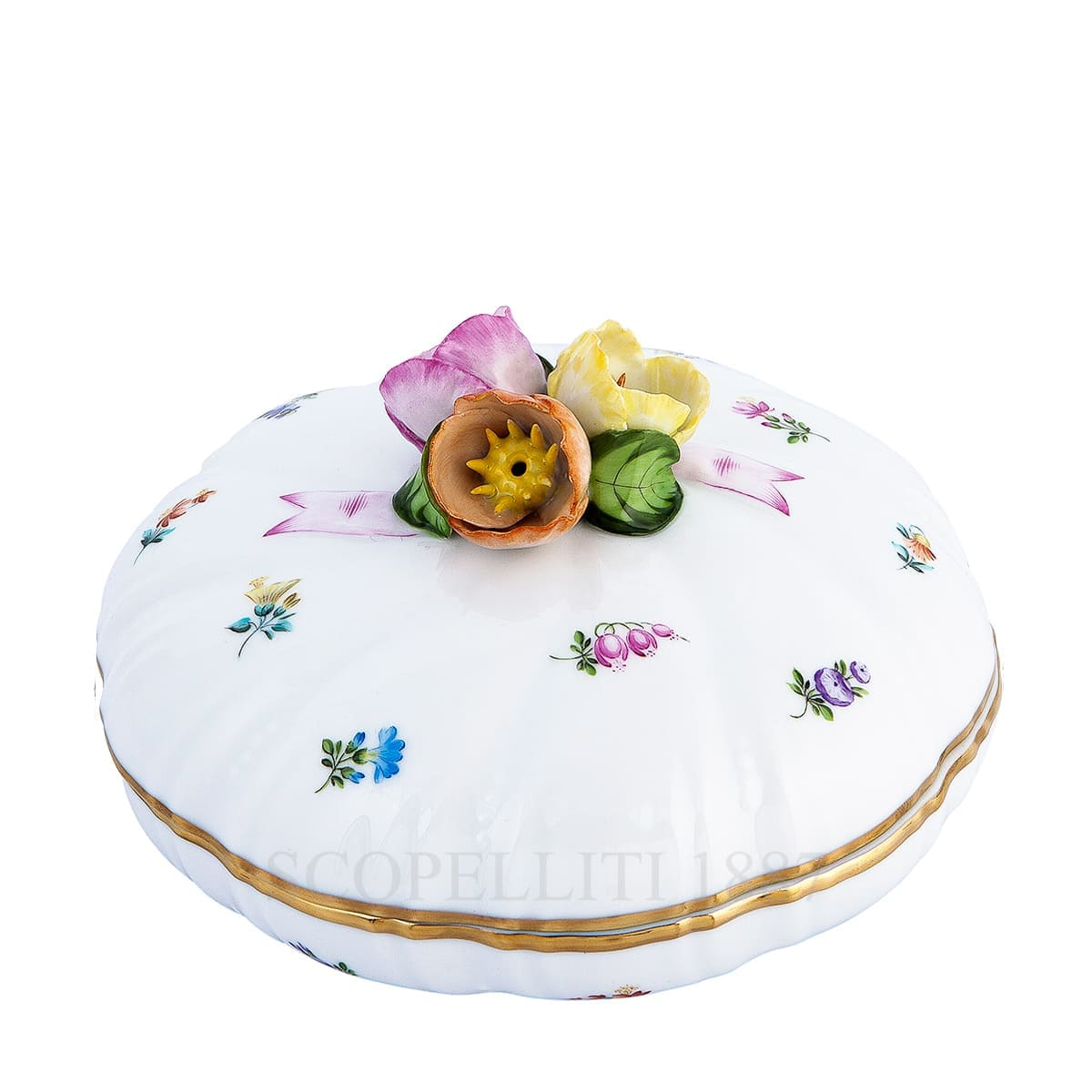 herend handpainted porcelain milles fleurs candy box