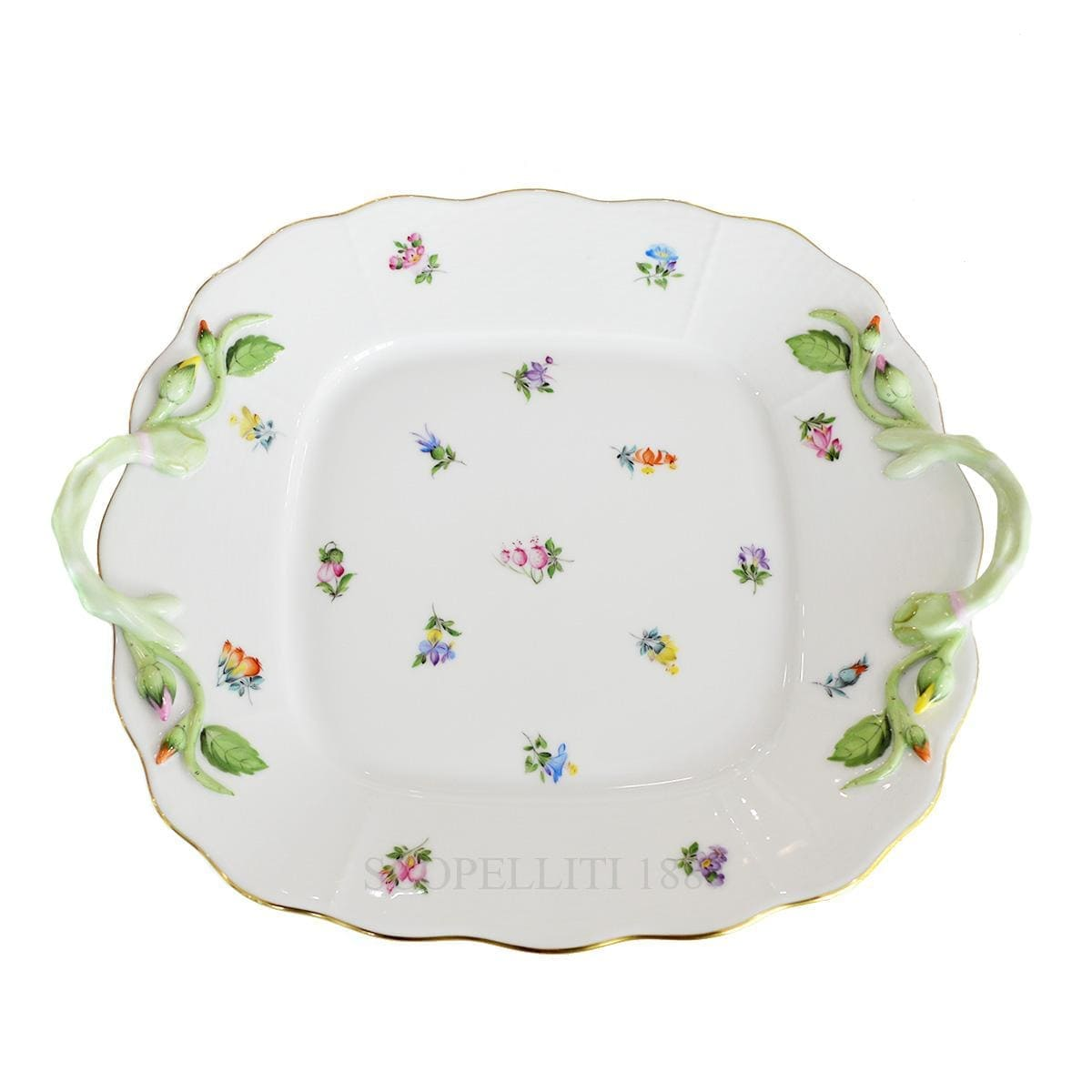 Herend  Milles Fleurs Square Cake Plate 430 MF