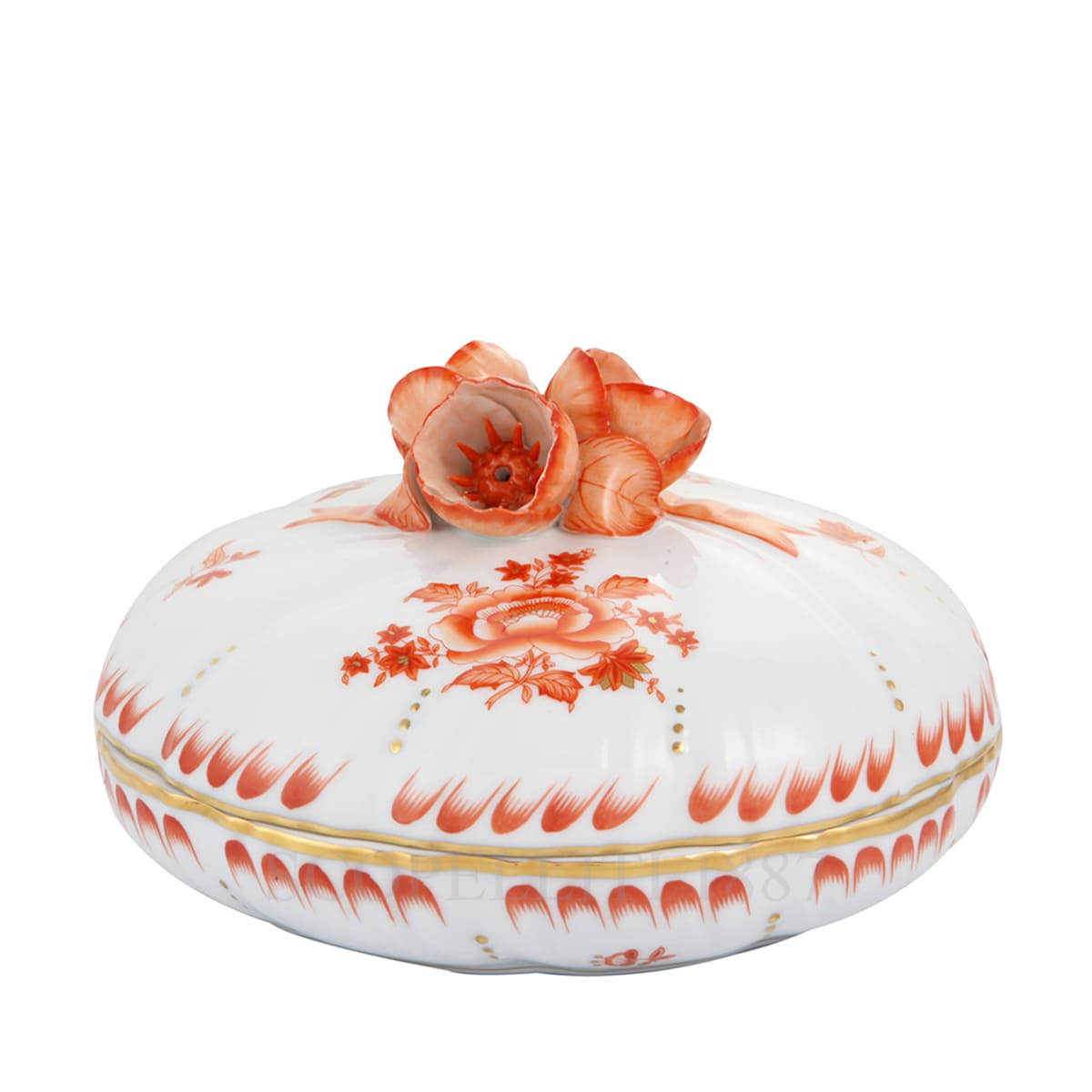herend porcelain nanjing bouquet candy box