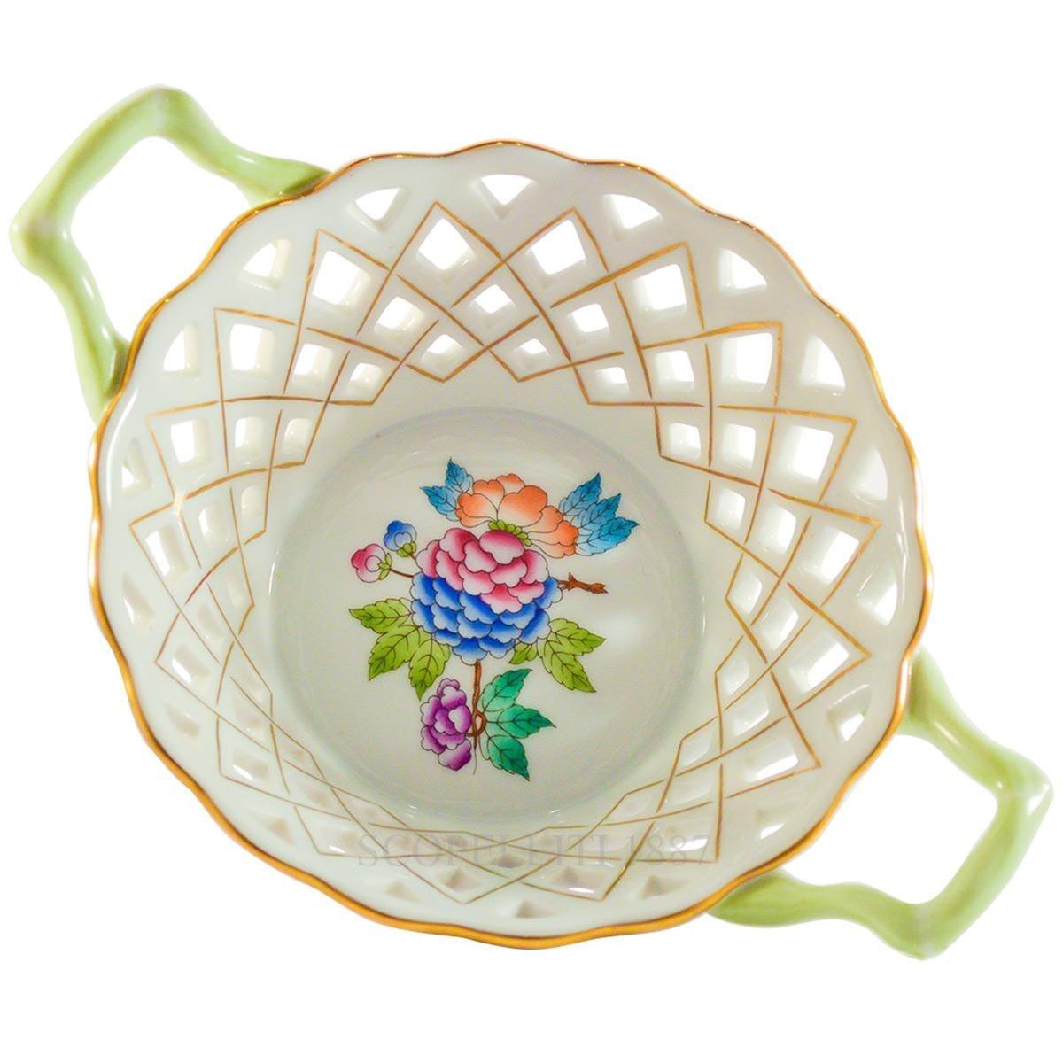 herend porcelain queen victoria basket weave