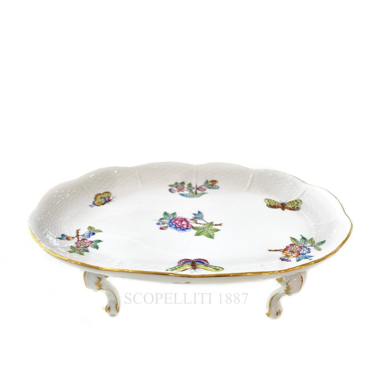 herend porcelain queen victoria footed tray
