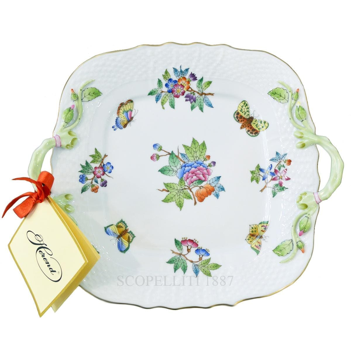 herend porcelain queen victoria square cake plate