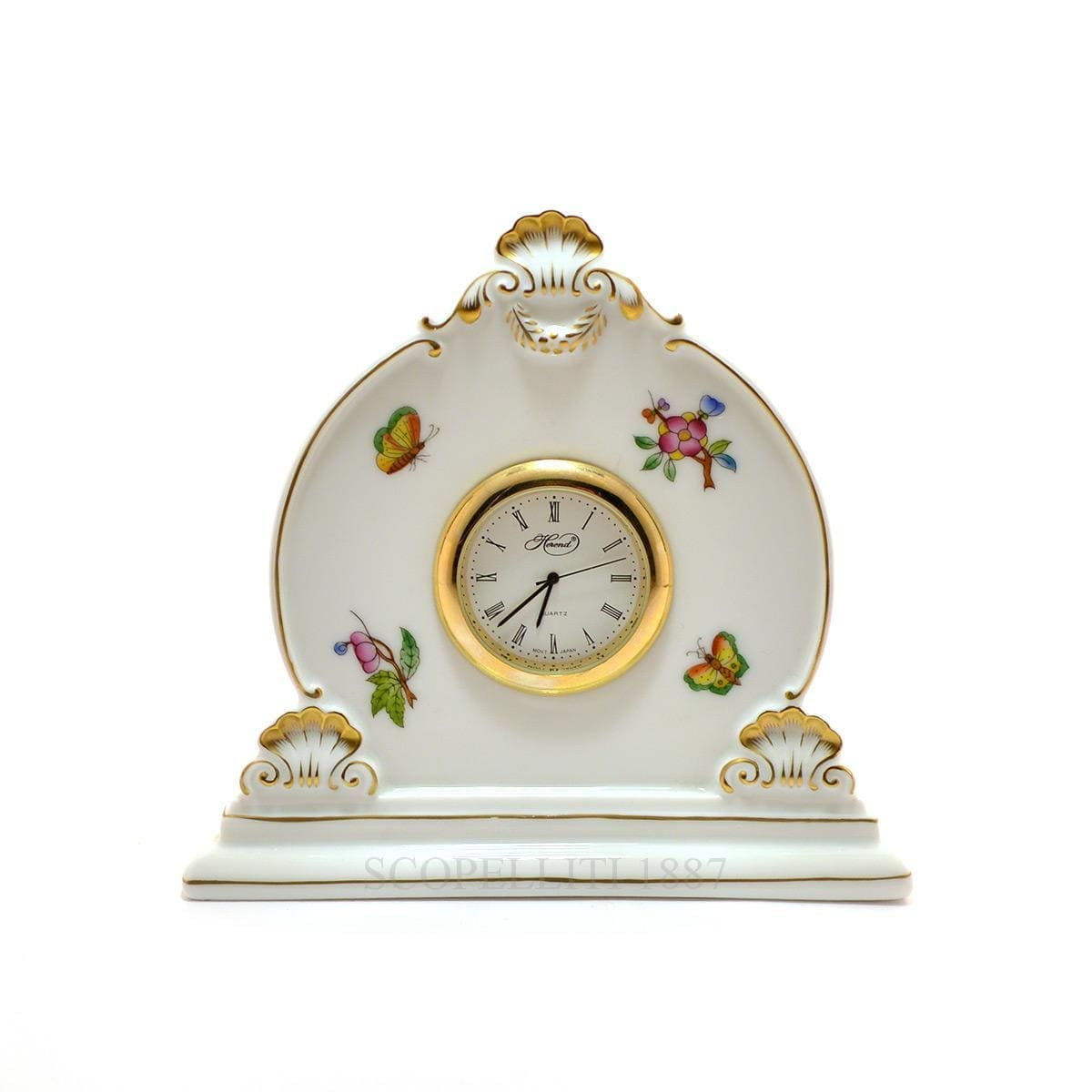 herend porcelain queen victoria table clock
