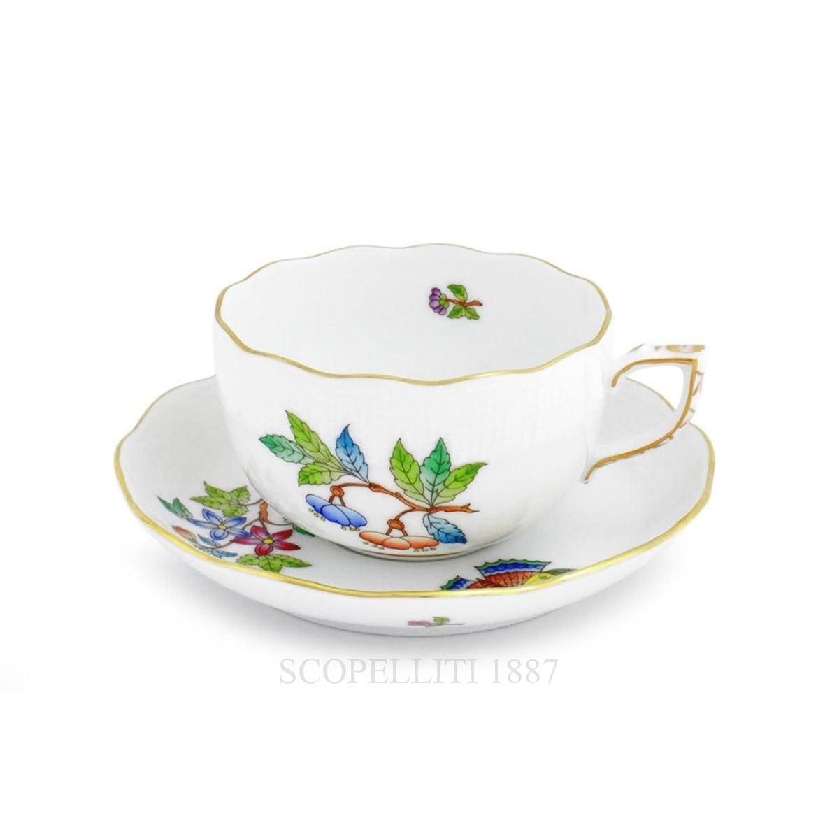 herend porcelain queen victoria tea cup and saucer