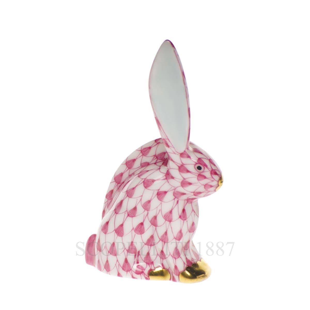 herend porcelain rabbit figurine pink