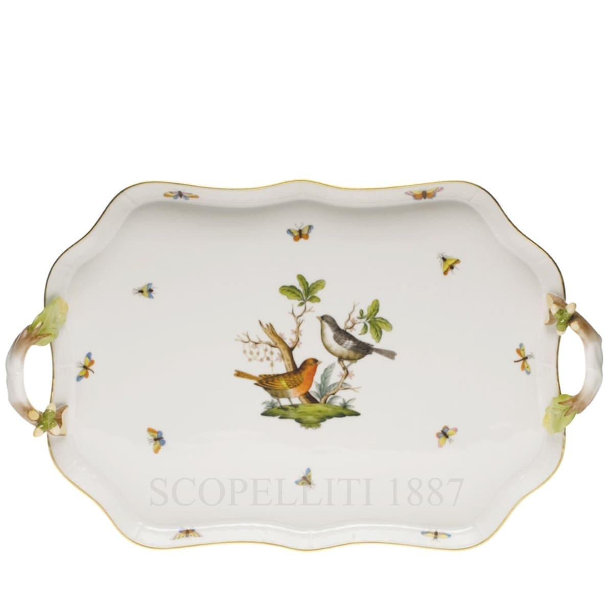 herend porcelain rothschild handheld tray