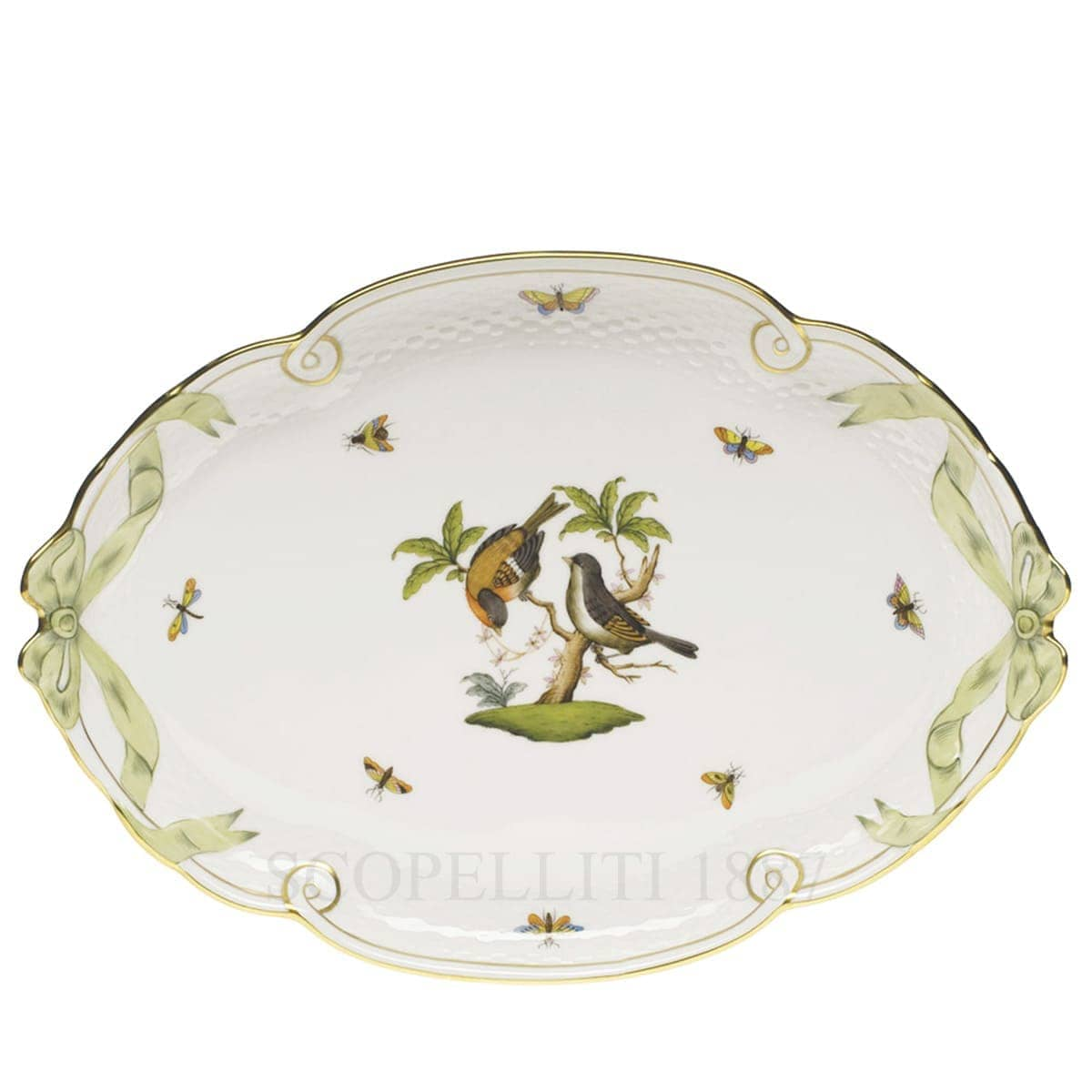 herend porcelain rothschild oval tray